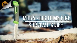getlinkyoutube.com-Light My Fire & Mora Swedish Fireknife | Bushcraft Knife | Field Review