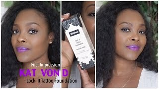 getlinkyoutube.com-Kat Von D Lock-It Foundation Review in Deep 74 for Brown Skin