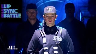 "getlinkyoutube.com-Joseph Gordon-Levitt's ""Rhythm Nation"" vs. Anthony Mackie's ""2 Legit 2 Quit"" 