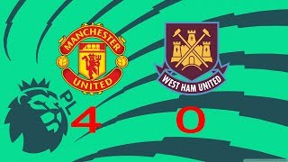 [Highlights] EPL 17/18: Manchester United 4-0 West Ham United