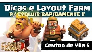 getlinkyoutube.com-LAYOUT CV 5 - DICAS P/ UPAR RAPIDO - Clash of Clans
