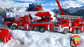 BRUDER Toys FIRE TRUCK MAN Mercedes Benz Scania Mack