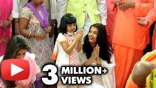 getlinkyoutube.com-Aishwarya Rai & Aaradhya Look Adorable At Durga Puja 2016