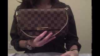 getlinkyoutube.com-Louis Vuitton Favorite MM Damier Ebene