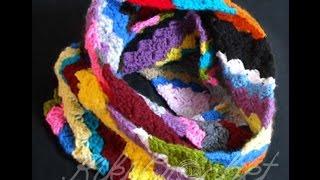 getlinkyoutube.com-Πλεκτος Λαιμος απο Γωνια σε Γωνια (μερος 1o)/ Crochet C2C Rectangular Infinity Scarf (part 1)