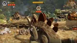 getlinkyoutube.com-LEGO Jurassic World - All Dinosaurs Bosses Fights [HD]