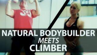 getlinkyoutube.com-Natural Bodybuilder Meets Climber (eng sub)