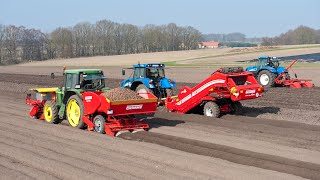 Grimme BF 200 bed former, CS 150 separator and GL 32 B potato planter