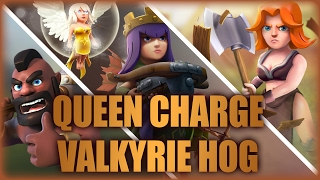 getlinkyoutube.com-Queen Charge Vaho War Strategy | Let Your Valkyries Get To The Inside | Clash Of Clans