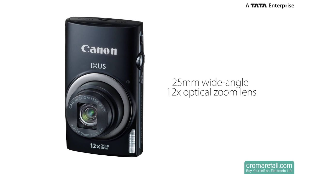canon ixus 265 hs 16mp digital camera (black) (25-300mm)