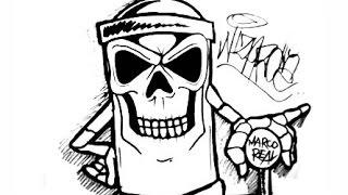 getlinkyoutube.com-skull spraycan characters by wizard