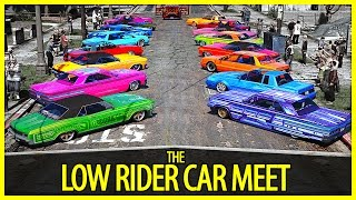 getlinkyoutube.com-GTA 5 - The Low Rider Car Meet | GTA V PC Editor