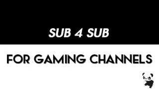 getlinkyoutube.com-Sub 4 Sub sub4sub for Gaming Channels