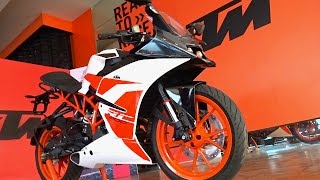 getlinkyoutube.com-KTM RC 200 2017 First Look Walkaround Review, Exhaust Note, What's New
