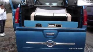 """getlinkyoutube.com-M.U.V.  Cadillac Escalade Ext on Asanti wheels 42"""" Tv M.U.V. CUSTOMS (828) 322-4290"""