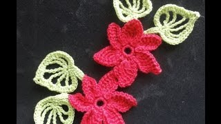 getlinkyoutube.com-Цветок с разновысокими столбиками Flower with different heights columns Crochet
