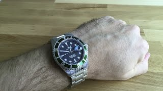 getlinkyoutube.com-Steinhart Ocean 1 Green Art.Nr. T0205  - watch review - PatricksTechReviews