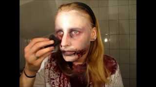 getlinkyoutube.com-Make Up Tutorial Untoter / Zombie mit Alltagsschminke