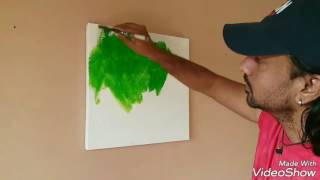 "getlinkyoutube.com-Acrylic Abstract Painting Demonstration ....2017.....""Heaven On Earth"""