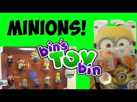 Build-a-Minion Fireman/Lucy & Despicable Me Mini Figures Set Review! by Bin's Toy Bin