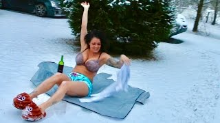 SHE GOT NAKED IN THE SNOW?!