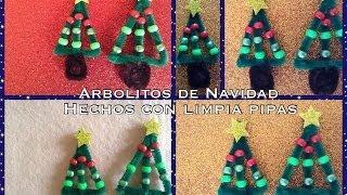 getlinkyoutube.com-ARBOLITO DE NAVIDAD HECHO CON LIMPIA PIPAS .- PIPE CLEANER CHRITMAS TREE .