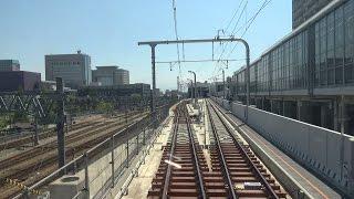 getlinkyoutube.com-在来線富山駅上りホーム高架化完成 新線区間の前面展望集(一部後方展望で代用)