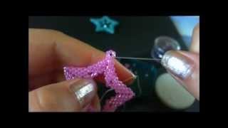 getlinkyoutube.com-Tutorial ciondolo stella peyote swarovski