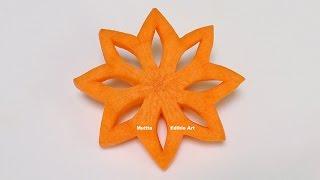 getlinkyoutube.com-Simple Art Of Christmas Star Carrot Part 1 - Beginners 53 By Mutita Art In Fruit Vegetable Carving