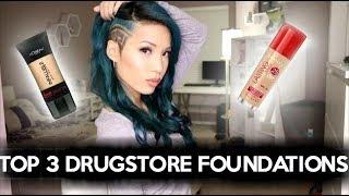 getlinkyoutube.com-TOP 3 DRUGSTORE FOUNDATIONS | OILY SKIN