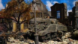 getlinkyoutube.com-'The libaretion of Europe by old and new types of Sherman tanks during WW2'