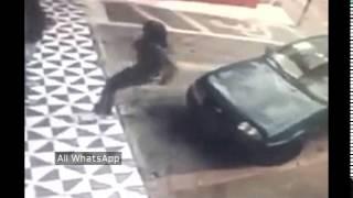 Girl tries to sit on car fails | whatsapp funny videos 2015 2016 @whatsapp #whatsapp