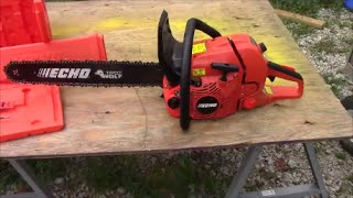 getlinkyoutube.com-Echo CS 590 Timber Wolf & ToughChest Chainsaw Case ~ First Look Product Review #echochainsaws
