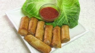 getlinkyoutube.com-Vegetable Spring Rolls Video Recipe by Bhavna