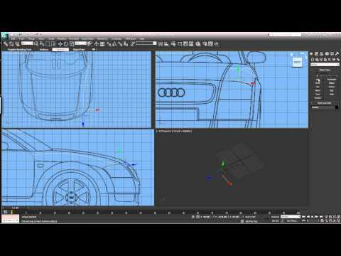 3DS Max spline modeling EASY Part 1