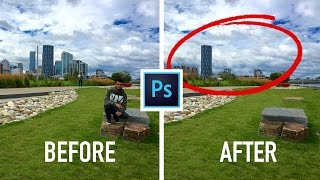 How to Remove ANY thing in a Picture using Photoshop CC 2017/2018