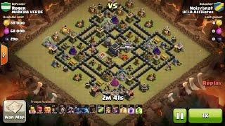 getlinkyoutube.com-Clash of Clans TH9 vs TH9 Hog Rider, Golem, Wizard & Pekka (HoGoWiPe) Clan War 3 Star Attack