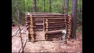 Small Log Cabin Construction