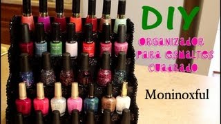 getlinkyoutube.com-ORGANIZADOR PARA ESMALTES - NAIL POLISH DISPLAY