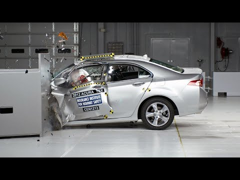 2012 Acura TSX small overlap test