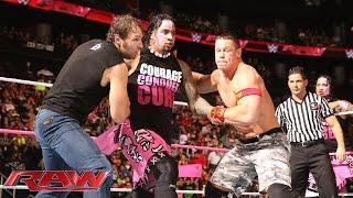 getlinkyoutube.com-John Cena & Dean Ambrose vs. The Usos vs. Gold & Stardust - Triple Threat Tag Team Match
