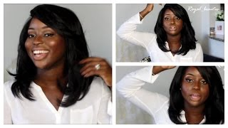 getlinkyoutube.com-The Every Day Wig|Freetress Equal Lace Front: Lace Deep Invisible L part Review