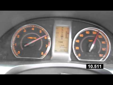 Разгон Toyota Allion 2010 1.8 0-150