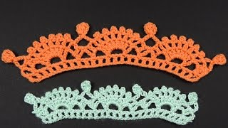 getlinkyoutube.com-Crochet : Borde # 19