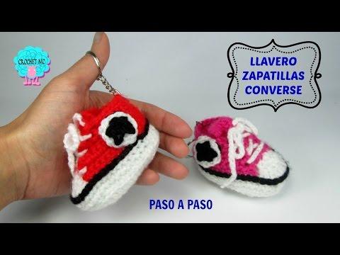 Tutorial llavero zapatillas converse a crochet