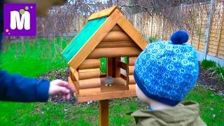 getlinkyoutube.com-ВЛОГ Домик для белочек и птичек Куча посылок и Королевские кресла в игровую комнату Макса и Кати