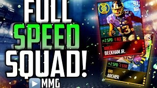 getlinkyoutube.com-Full SPEED Team! 99 SPEED EVERYWHERE! Fastest Madden Mobile Team