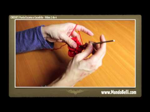 Tejer Punto Escama Cocodrilo Ganchillo Crochet Video Online Gratis