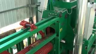 getlinkyoutube.com-SAWING LINE for small logs - Circular saws MEBOR