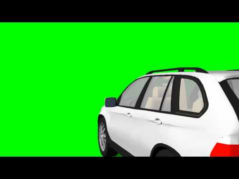 BMW X5 drive - green screen effects